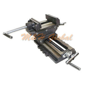 2 Way 4 Jaw Cross Vise Cross Slide Drill Clamp Holder Drilling Milling Machine