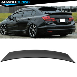 Fits 13 15 Honda Civic 9th Sedan 4 door Abs Ducktail Wing Trunk Spoiler