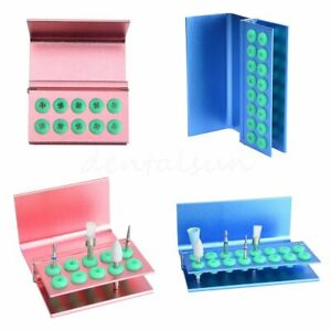 Dental Bur Holder Block With Cover 16holes 10holes Autoclave Disinfection Box