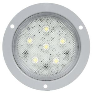 Truck lite 44339c Super 44 Led 6 Diode Round Clear Dome Light Gray Flange