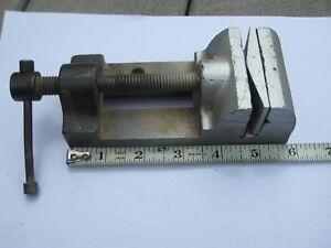 Vintage Vise Drill Press Machinist 2 3 8 jaws Works Great Removeable Jaw Piece
