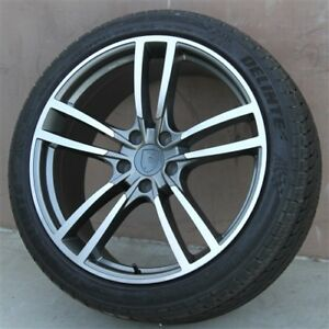 4 Set 22 22x10 5x130 New Turbo Style Wheels Tires Package Porsche Cayenne