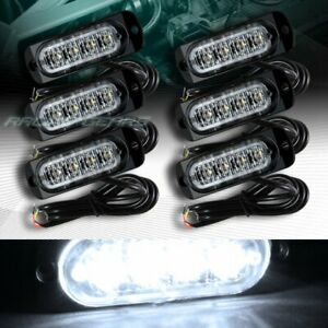 24 Led White Car Emergency Beacon Hazard Warning Flash Strobe Light Universal