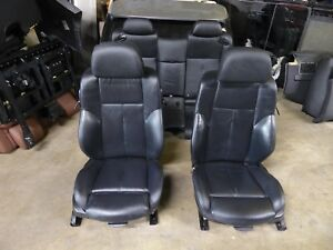 Front Rear Seat Set Sport Seats Heated Leather Black Oem Bmw E63 650i Coupe