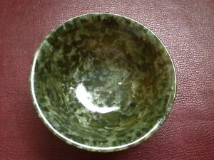 Beautiful Spinach Jade Chinese Bowl Low Price L K
