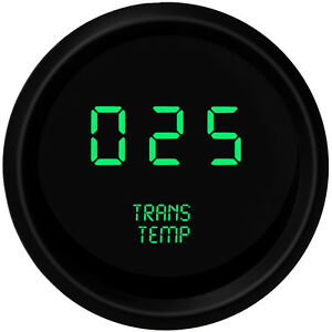 Green Led Digital Transmission Temperature Gauge Trans Black Bezel Usa Made