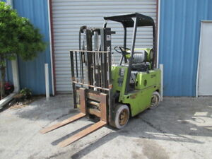 Clark C500 45 4000lbs Lpg Forklift 106 Max Short Mast Cushion Non mar Tires