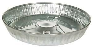 Little Giant Hanging Metal Poultry Feeder Pan 17 inch