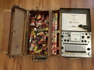 Working Eico 667 Dynamic Conductance Tube Tester Manual 150 180 Tubes
