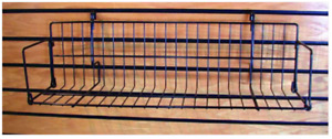 Lot Of 4 2ft Universal Grid slatwall Or Pegboard Dvd book video Rack Shelves