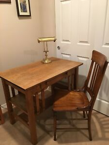 Antique Mission Style Oak Desk