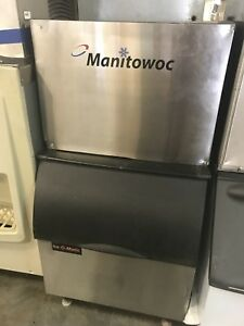 Manitowoc Ice Cube Machine Maker 650 Lb Sd0604a Insulated Bin Included