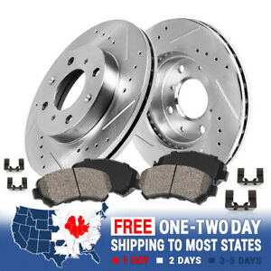 Front Kit Drilled And Slotted Brake Rotors Ceramic Brake Pads For Sentra 200sx