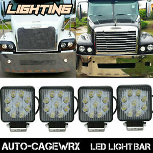 Round Led Fog Lights Front Bumper 4 Headlight For Freightliner Century Class