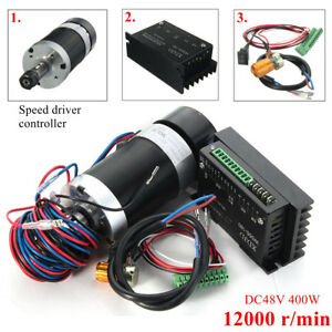 Cnc 400w Er11 Engraving Brushless Spindle Motor Driver Speed Controller Us