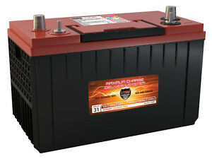 Vmax Xca31 1400 Agm 1400mca For Power Boat W Group 31 Marine 12v Battery