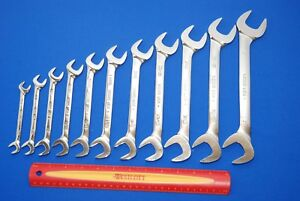 Snap on 11 Piece 4 way Angle Head Sae Open End Wrench Set 3 8 1 Ships Free
