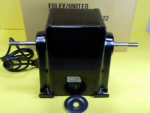 Nos Foley Belsaw 1055 Sharp all Elec Motor 1 2 Hp 3450 Rpm 115v Dual Out Shaft