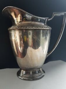 William Rogers Silverplate 5717 Harvest Water Pitcher