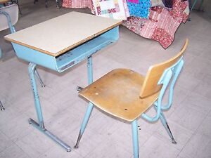 Vintage School Student Desk Chair
