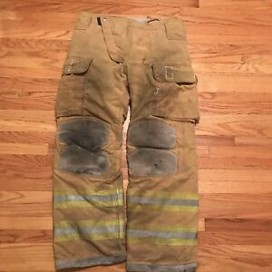 Lion Janesville Firefighter Turnout Gear Bunker Turnout Pants W Liner 40 X 34