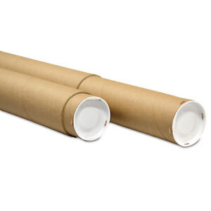 General Supply Adjustable Round Mailing Tubes 60l 120l X 4 1 8 Dia Brown
