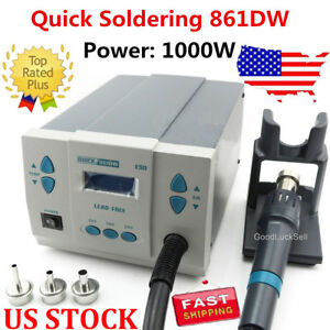 Quick Soldering 861dw 1 000w Digital Rework Station Free Shipping 110v Stock Usa