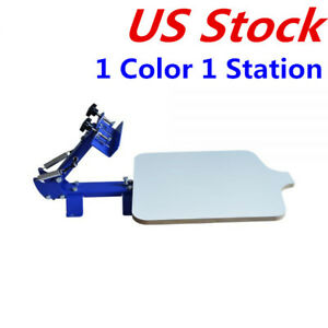 Us Stock 1 Color 1 Station T shirt Silk Screen Printing Machine