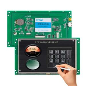 7 Inch Hmi 800x480 Tft Lcd Uart Hd Stone Brand Monitor Full Color Screen With