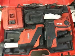 Hilti Te 6 a36 Cordless Rotary Hammer Drill Drs 6 a 2 Batteries Case Filters