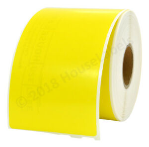 50 Roll 30323 Yellow Dymo Compatible Shipping Labels 240 Lbl Per Roll 2 1 8 x 4