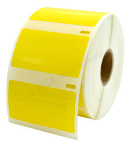 50 Roll 30334 Yellow Labels Dymo Compatible 2 1 4 X 1 1 4 1000 Labels Per Roll