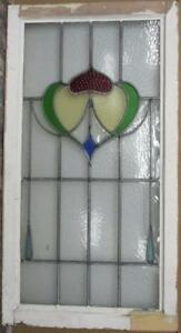 Large Old English Leaded Stained Glass Window Stunning Abstract 20 25 X 38
