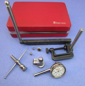 Starrett 196a1z Plung Back Dial Test Indicator Set In Red Case Machinist
