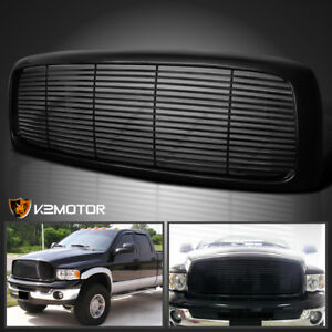 2002 2005 Dodge Ram 1500 2500 3500 Front Hood Billet Grille Durable Abs Black