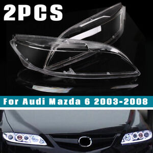 2pc For Mazda 6 2003 2008 Oem Headlight Headlamp Lens Cover Lampshade Shell Us