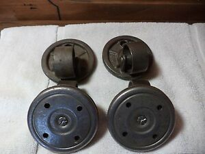 Set Of 4 Antique Cast Iron Industrial Swivel Bearing Caster Wheels 3 5 8