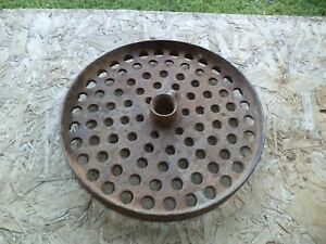 Old Cut Out Cast Iron Antique Farm Wheel Craft Garden