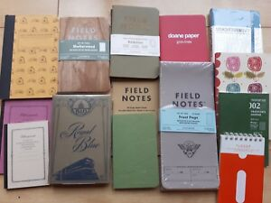 Assorted Notebook Bundle Field Notes Etc Memo Pocket Small Mini Notepad