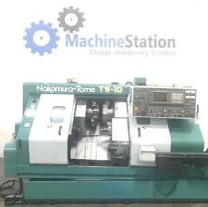 Nakamura Tw 10mm Multi Axis Turning Center Twin Turret Live Tool Cnc Lathe tw10