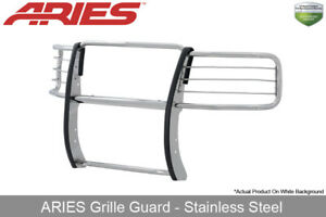 Aries Polished Stainless Steel Grille Brush Guard 14 16 Silverado Sierra 1500