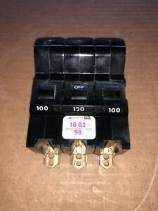 Federal Pacific Fpe American 3 Pole 100a Bolt On Nb3100 Circuit Breaker
