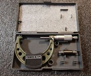 Mitutoyo 50 75mm Outside Micrometer 103 139b Carbide Tips And Ratchet Stop