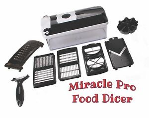 Miracle Pro Magic Food Veggie Fruit Dicer Chopper Mandolin Slicer Peeler Grater