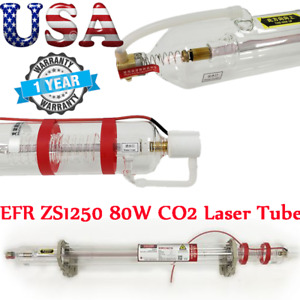 Usa Efr Zs1250 80w Co2 Sealed Laser Tube Glass Tube 10000hr Uselife