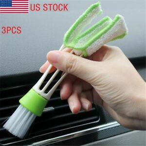 3 Car Air Vent Dash Detailing Interior Brush Auto Valeting Keyboard Dust Cleaner