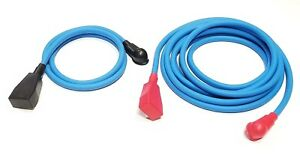 Battery Relocation Kit 4 Awg Hd Welding Cable Top Post 6 Blue 3 Blue W Boots