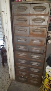 Vintage Industrial Cabinet By Wright Co Inc now Wright line 20 Drawers