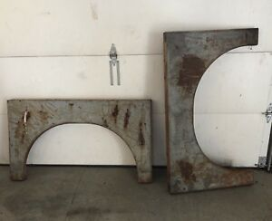 Vintage Set Of 2 Large Industrial Machine Legs Base Table Patina Very Heavy Set