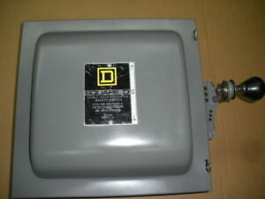Manual Transfer Switch Square D 82342 3 Pole Non Fused 600vac 60a Tpdt Free Ship